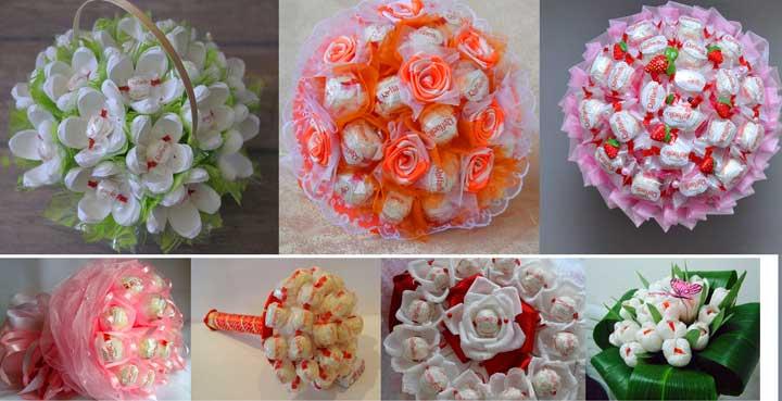 Типы конфет для создания букета