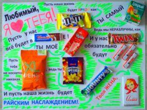 Креативный плакат со сладостями