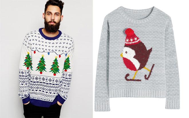Мужской свитер на новый год