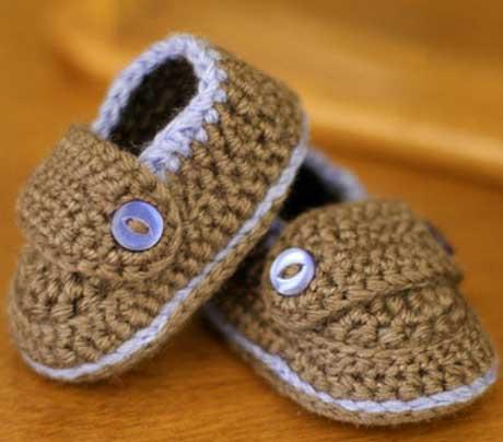 Обувь для новорожденного своими руками
