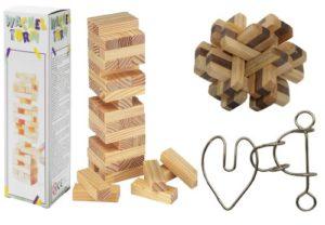 Головоломки деревянные и из металла