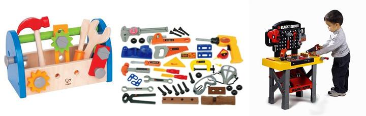 Мальчик и детские инструменты