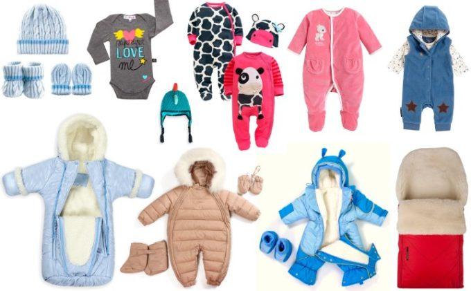 Коллаж одежды для малыша