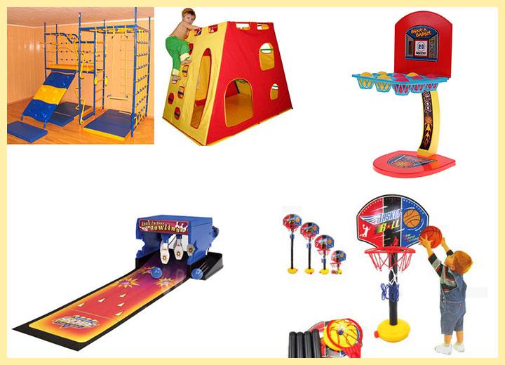 Детские: спортивные комплексы, мини-боулинг, мини-баскетбол