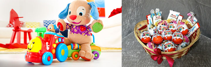 Детские игрушки и сладости киндер сюрприз