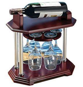 Винный набор с бокалами и подставкой под бутылку
