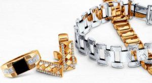 Мужские кольцо, запонки, браслеты