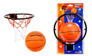 Кольцо и мяч для игры в баскетбол