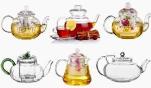 Выбор чайников из стекла