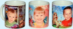 Чашки с фотографиями детей на выпускной
