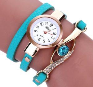 Часы с натуральным камнем и кожаным ремешком