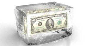 Лед с деньгами