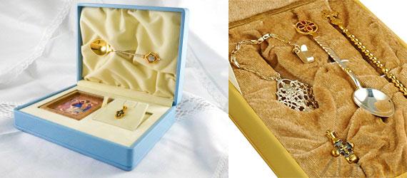 Серебряный или позолоченный набор для крещения