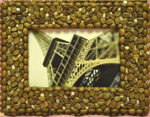 Рамка из кофейных зерен