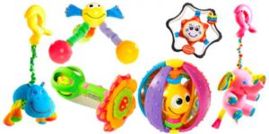 Игрушки в подарок новорожденному