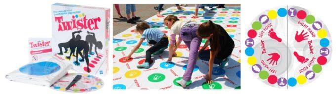 Твистер: комплект, дети играют, колесо увеличено