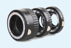 Комплект из удлинительных колец для фотоаппарата
