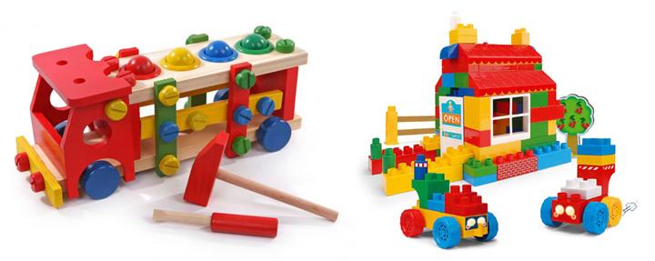 Деревянные и пластиковыые конструкторы