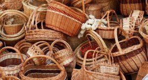 Корзинки плетеные для урожая