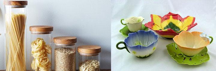 Емкости для хранения и красиая посуда