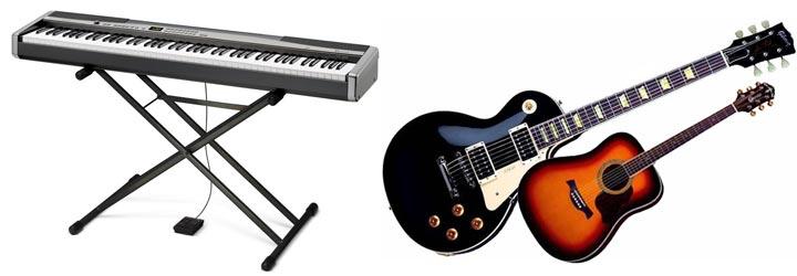 Синтезатор, гитары