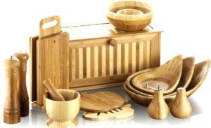 Набор кухонной утвари из дерева