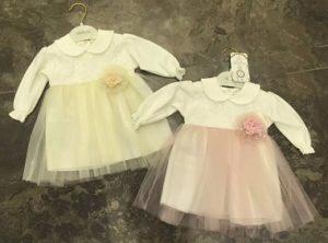 два кремовых платья на новорожденную девочку