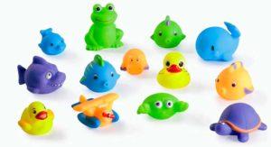 Мягкие резиновые плавающие игрушки