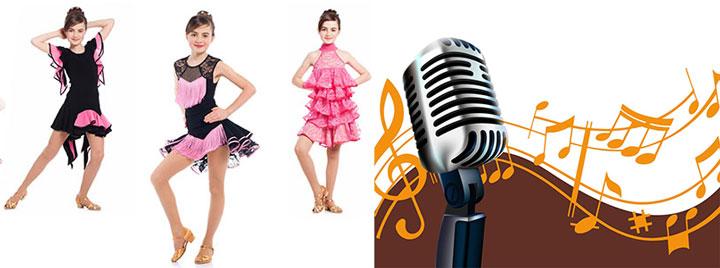 Одежда для танцев и микрофон