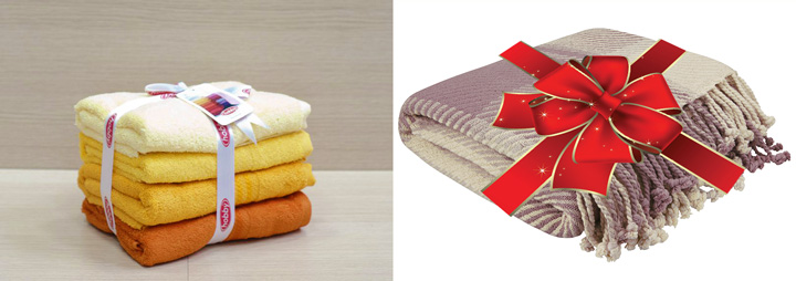Плед и набор полотенец