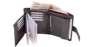 Деньги в портмоне