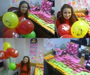 Креативное поздравление девушки-коллеги
