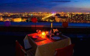 Романтический ужин на крыше в подарок любимым
