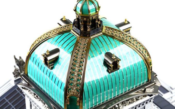 Шкатулка с позолотой и ювелирной эмалью