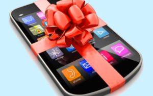 Новенький смартфон в подарок