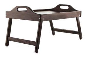 Столик для завтрака цвета дуба венге