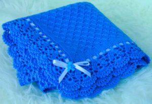 Одеялко новорожденному, связанное своими руками