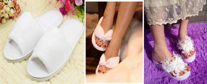 Белые тапочки и невеста