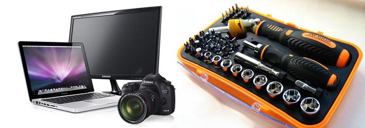 Интсрументы и планшет, монитор, ноутбук, фотоаппарат