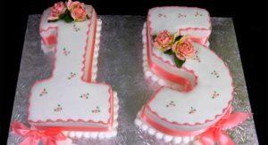 Торт на пятнадцатилетие