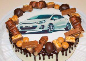 Торт с шоколадным принтом в подарок