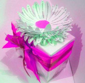 Цветок с пожеланиями, сделанный своими руками