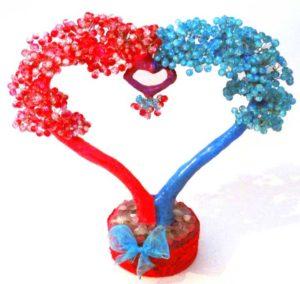 Деревце любви из биссера