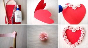 Картонное сердечко