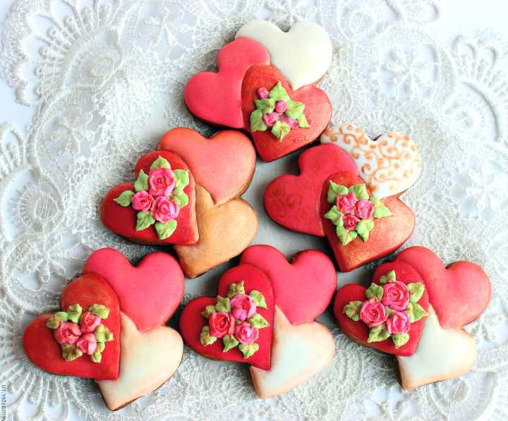 Печеньки-валентинки