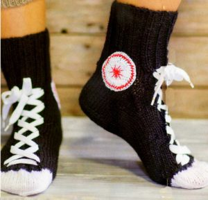 Мужские носки связанные своими руками