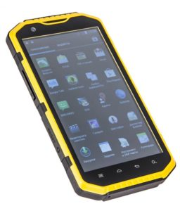 желтый противоударный телефон