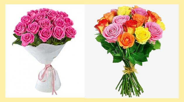 Букеты роз по 17 шт