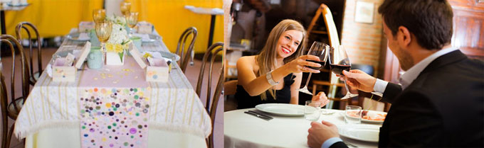 Ситцевая свадьба в ресторане