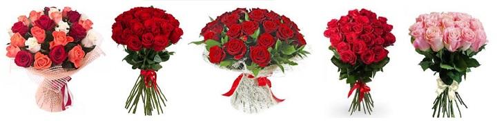 Двадцать пять роз на помолвку